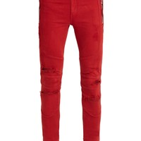 Distressed mid-rise skinny jeans | Balmain | MATCHESFASHION.COM UK