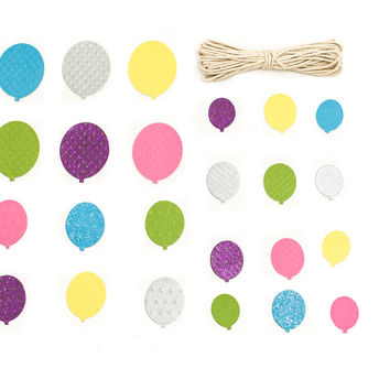 Balloon Card Embellishments, 24 Pieces