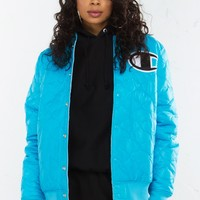 Champion Jacket in Polar Star White and Black Team Red Scarlet
