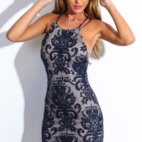 HelloMolly | Bedroom Whispers Dress Navy