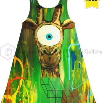 Giraffe Sight Kids Dress