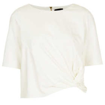 Crepe Knot Front Top - Jersey Tops  - Clothing