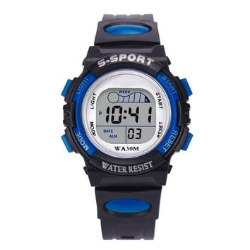 Splendid Waterproof Children Boys Digital LED Sports Watch Kids Alarm Date Watch Casual Wristwatches clock relogio masculino