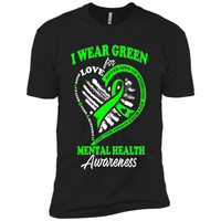 Mental Health Awareness T Shirt - I Wear Green For My Hero