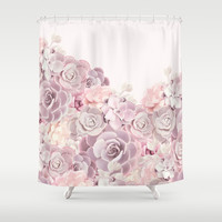 For the girl Shower Curtain by printapix