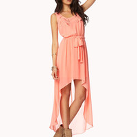 Floral Emboridered High-Low Dress | FOREVER 21 - 2047444255