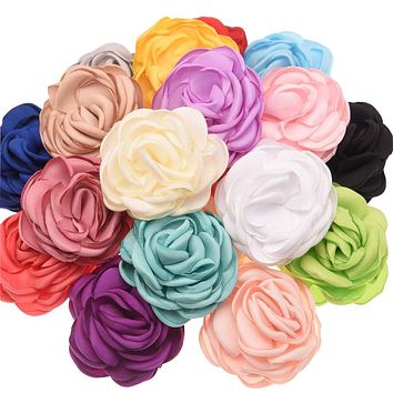10pcs Curling flowers 5.5cm Fashion Hair Accessories DIY Accessory Boutique Wedding decoration flower No Hairclip hair bow