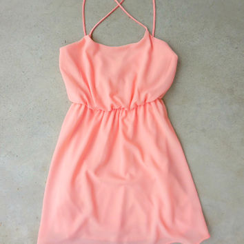 Summer Grove Dress in Apricot [7144] - $36.00 : Feminine, Bohemian, & Vintage Inspired Clothing at Affordable Prices, deloom