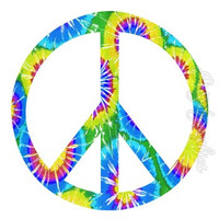Kids Wall Decals Graphics Girls Room Fun Tie Dye Peace Love Hippie PC7