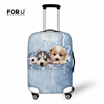 FORUDESIGNS Dogs Printing Luggage Cover Suitcase Travel Accessories Case Apply to 18'-30' inch Suitcase Suitcase Protective Cats