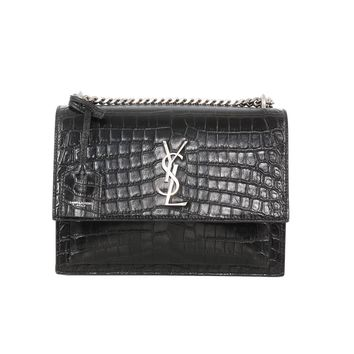 Saint Laurent Croc Monogram Bag