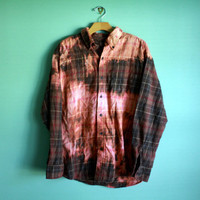 Bleached ombre flannel ONE OF A KIND
