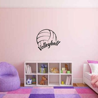Volleyball Vinyl Wall Words Decal Sticker Graphic