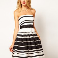 Coast Stripe Jackie Bandeau Dress at asos.com