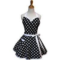 Lovely Aprons Sweetheart Apron (Black)