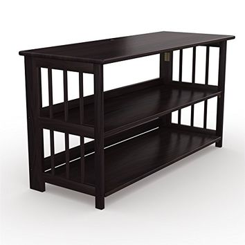 Stony-Edge TV Stand and Bookshelf with USB Port, 42 Inch Wide, Espresso