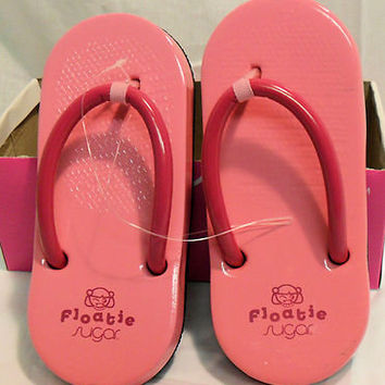 complete in specifications 60% clearance hot-selling official SUGAR FLOATIE FLOATIES FLIP FLOPS PINK SIZE 9, NEW