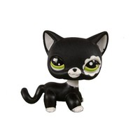 Pet Shop Animal Green Eyes Black Cat Doll Figure Child Toy