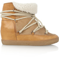 Isabel Marant - Nowles shearling-lined leather concealed wedge boots