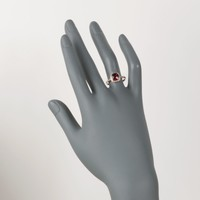 Ross-Simons - 1.90 Carat Garnet and .12 ct. t.w. Diamond Ring in 14kt Rose Gold - #828909