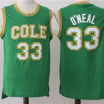 ONETOW Best Sale Online NCAA University Basketball Jersey Louisiana State University LSU Tigers # 33 Shaquille O'Neal