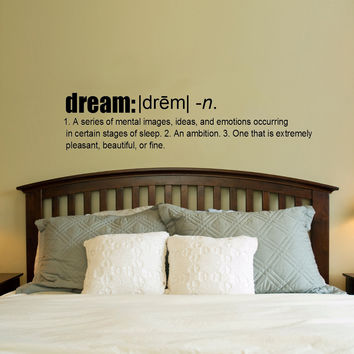 Dream definition Vinyl Wall Decal Sticker Art