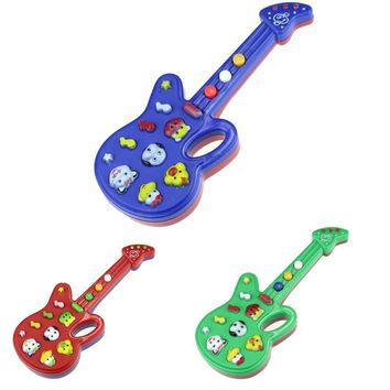 Cute Cartoon Guitar Animal guitar Toys Nursery Rhyme Music Children Baby Kids Gift Toy Guitar Music Instrument kids toy