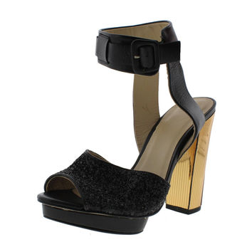Zara Womens Leather Heels Platform Sandals