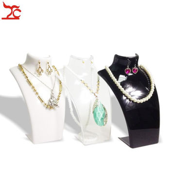 One Piece Jewelry Display Bust  Black White Clear Acrylic Mannequin Jewelry Holder Earring Necklace Display Stand 21cm