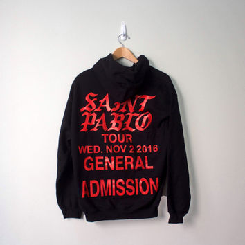 Kanye west saint pablo tour hoodie limited