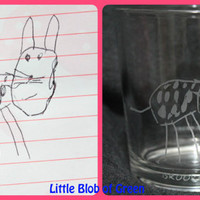 Custom Child's Art Glassware - Turn You Child's Doodle Into A Permanent  Piece of Art