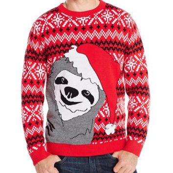 Alex Stevens Men's Slothy Christmas Ugly Christmas Sweater