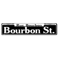 Rue Bourbon Street Tin Sign | Salem State University Dorm Room Decor | OCM.com