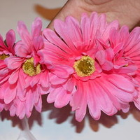 Pink Daisy Crown from J&M Flower Crowns