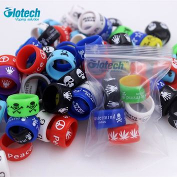 Glotech 5pcs/10pcs silicone rubber vape ring for mechanical mods /rda/ rba/ Non Slip band