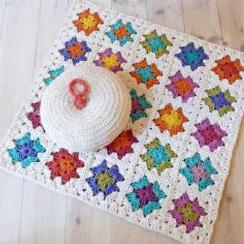 Rug Crochet Granny Square by lacasadecoto on Etsy