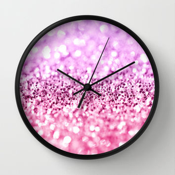 Glamorous Glitter Wall Clock by Perrin Le Feuvre | Society6