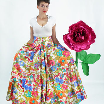 Maxi Skirt, Long Skirt, Floor Length Skirt, Plus Size Skirt, Circle Skirt, High Waisted Skirt, Floral Skirt, Boho skirt, Bridesmaid Skirt
