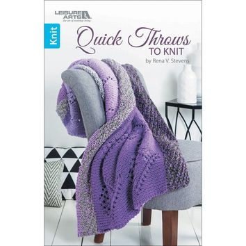 Leisure Arts-Quick Throws To Knit