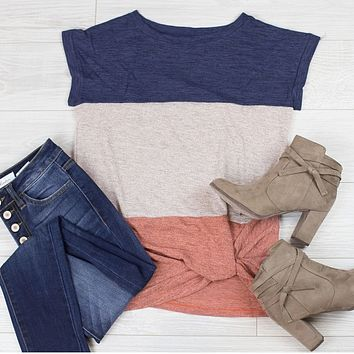 Lunch Date Colorblock Tee
