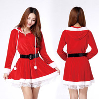 2016 New Women Girls Christmas Santa Claus Holiday Cosplay Xmas Outfit Fancy Party Costume # 79169