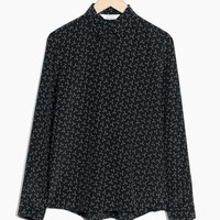 Silk Shirt - Anchor/Black - Blouses - & Other Stories US