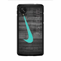 Nike Mint Just Do It Wooden Nexus 5 Case