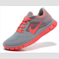 NIKE net surface wear-resistant sneakers casual shoes Gray sun red