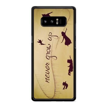 Peter Pan Never Grow Up Samsung Galaxy Note 8 Case