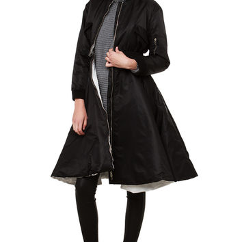 AMMO Aviator Flare 2 Piece Coat - Black/White
