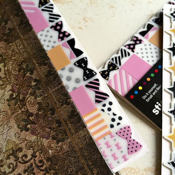 bow ribbon sticky note bow ribbon sticky flag cute bow tie sticky memo lovely planner reminder polka dots ribbon reminder stationery gift