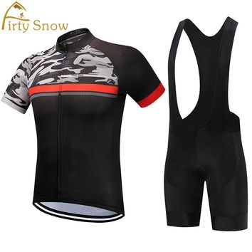 2018Firty sonw Cycling Jersey set Neon Green MTB Bike Clothes Summer Bicycle Clothing Cycling Set Maillot Conjunto Ropa Ciclismo