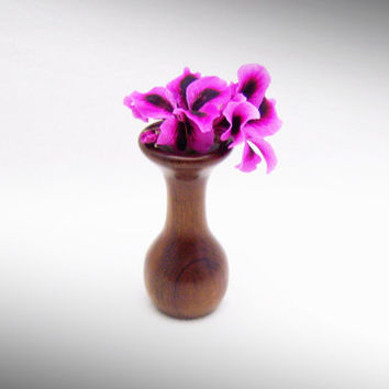 Rose Wood Bud vase - Flower vase