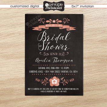 Printable Bridal Shower Invitation Floral Party Invites